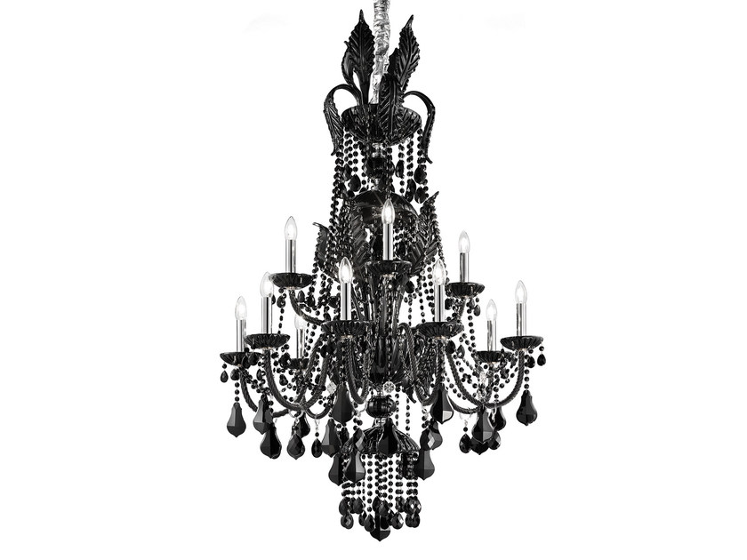 Direct light incandescent blown glass chandelier with crystals BOHEMIA VE 887 | Chandelier by Masiero