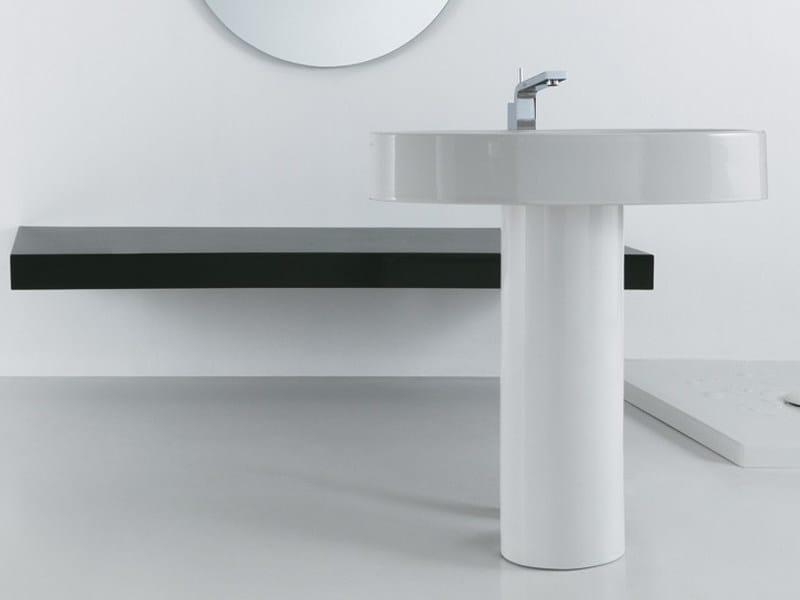 Freestanding pedestal ceramic washbasin BOING | Freestanding washbasin - GSG Ceramic Design