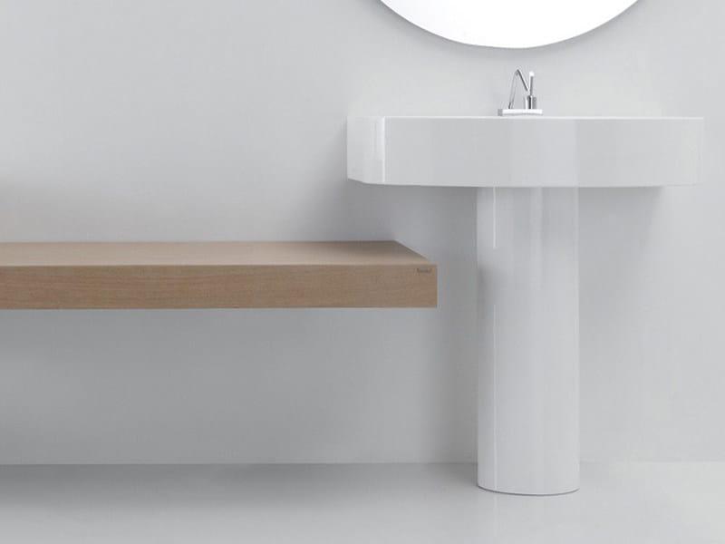 Pedestal ceramic washbasin BOING | Pedestal washbasin - GSG Ceramic Design