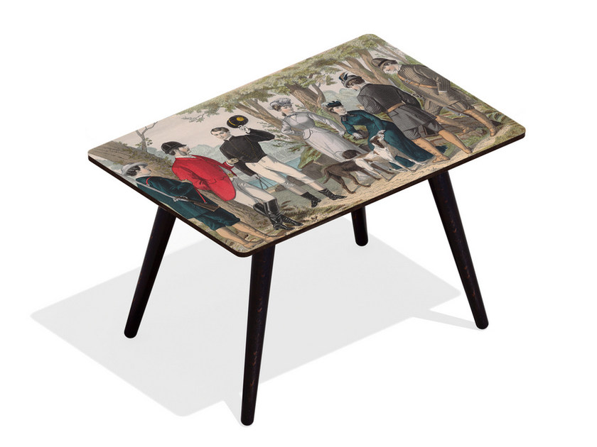 Rectangular beech wood and HPL coffee table BOIS DE VINCENNES | Rectangular coffee table by Bazartherapy