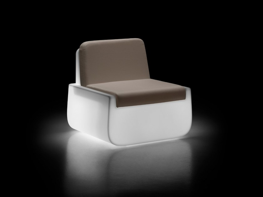 Garden armchair with light BOLD | Armchair with light - PLUST Collection by euro3plast