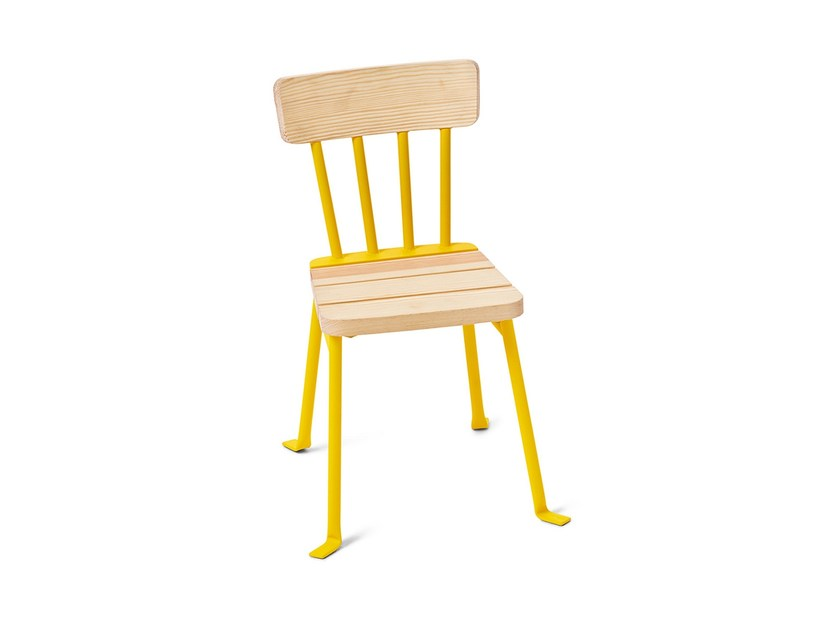 Steel and wood garden chair BOLLNÄS | Kids chair by Nola Industrier
