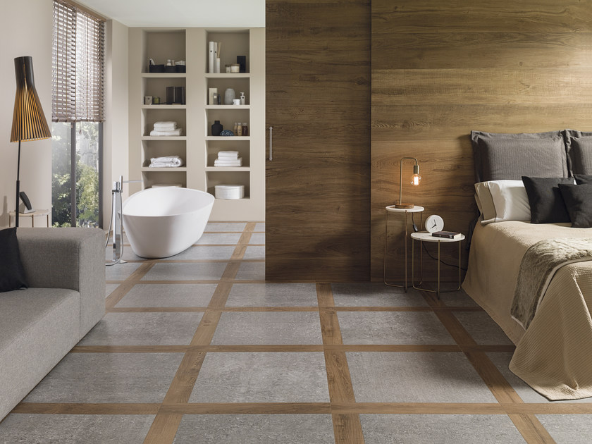 Porcelain Stoneware Flooring With Wood Effect Atelier
