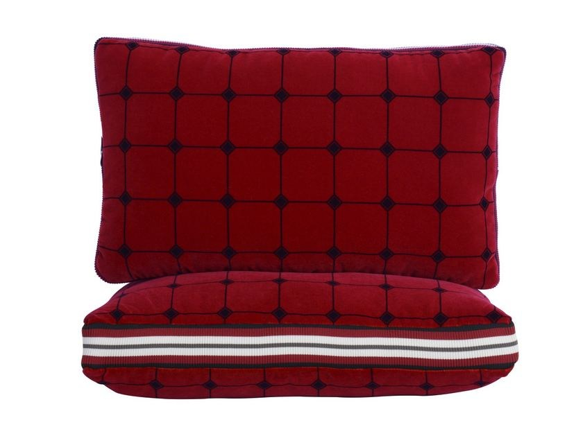 Rectangular cotton cushion BOMBERS by LELIEVRE