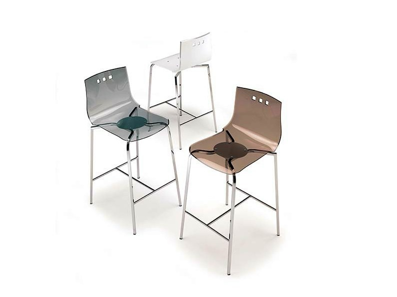 Vitrex counter stool BONGO - Ozzio Italia