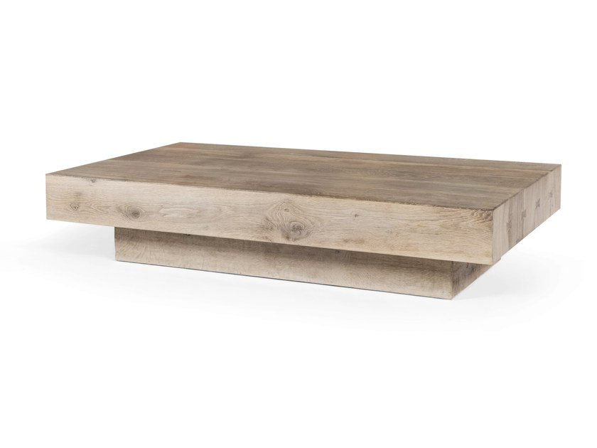 Low rectangular oak coffee table BONHEUR | Rectangular coffee table - CABUY D.