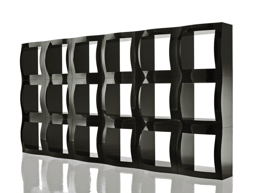 Sectional double-sided bookcase BOOGIE WOOGIE | Sectional bookcase - Magis
