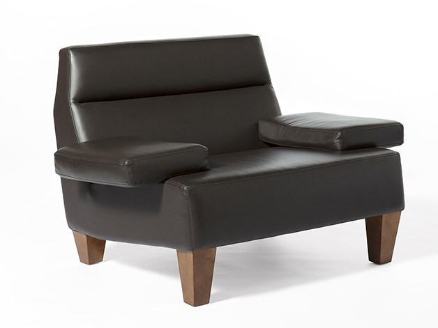 Upholstered leather armchair BOOK | Armchair - Paolo Castelli