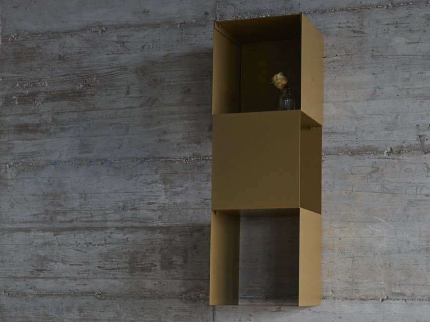 Libreria a parete sospesa in acciaio verniciato a polvere BOOKLIT - iCarraro italian makers
