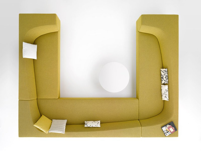 Sectional fabric sofa with removable cover BORA BORA | Sectional sofa by MDF Italia