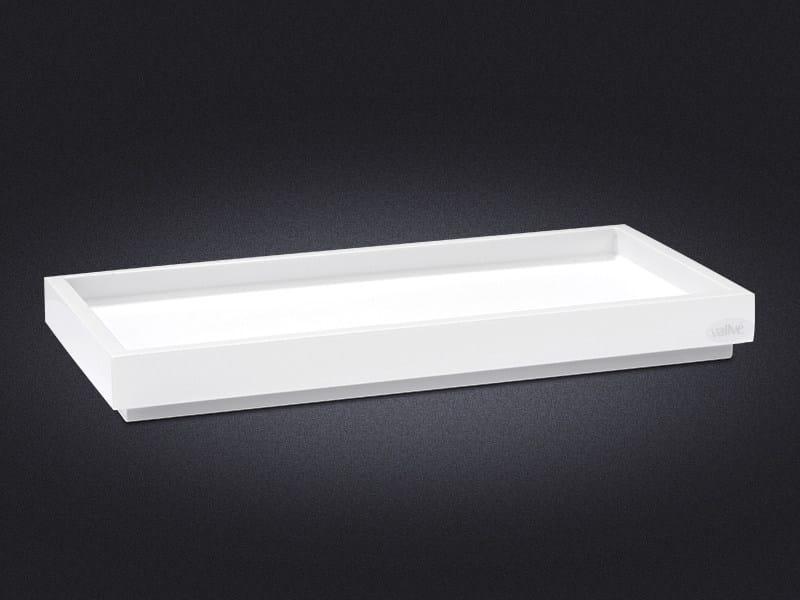 Rectangular resin tray BORDA | Resin tray - Vallvé Bathroom Boutique