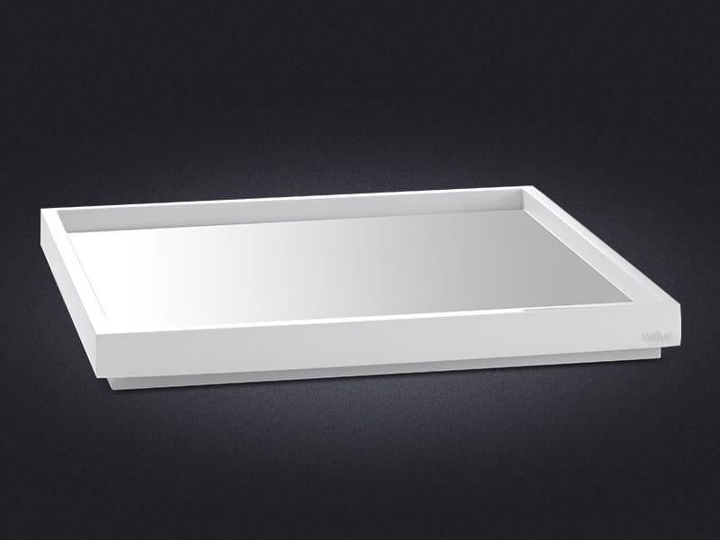 Vassoio quadrato in resina BORDA | Vassoio quadrato - Vallvé Bathroom Boutique