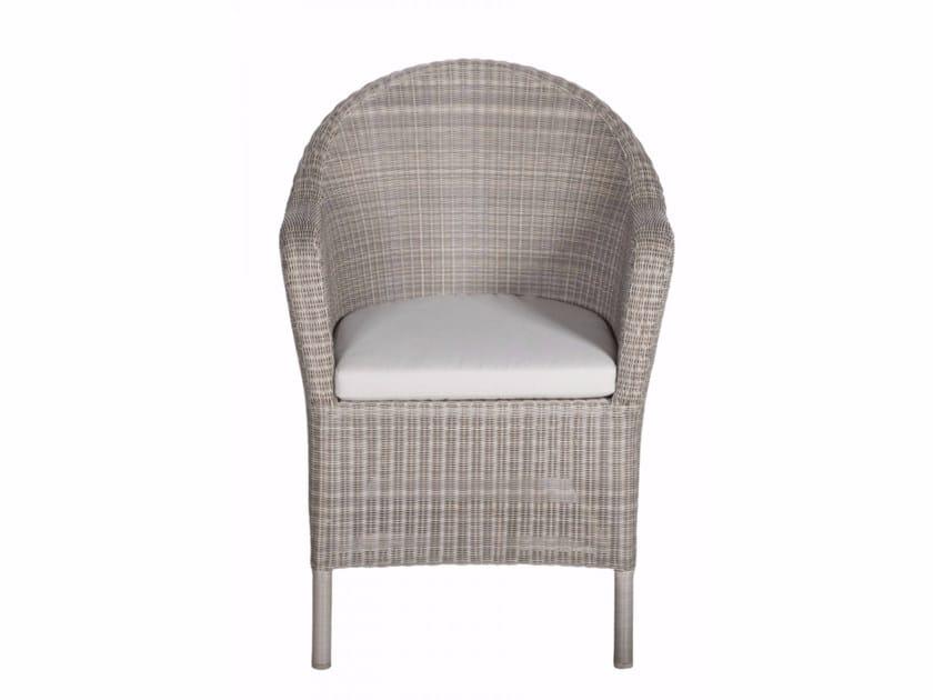 Garden armchair with armrests BORNEO | Easy chair - Tectona