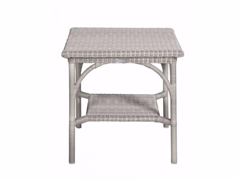 Square garden side table BORNEO | Square coffee table - Tectona