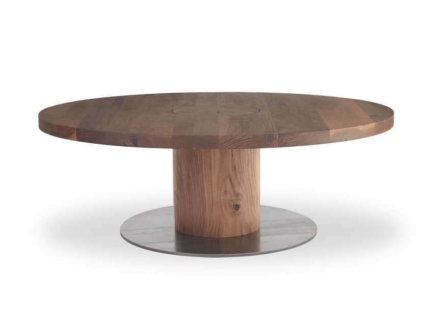 Round Solid Wood Coffee Table Boss Executive Small Round Coffee Table By Riva 1920