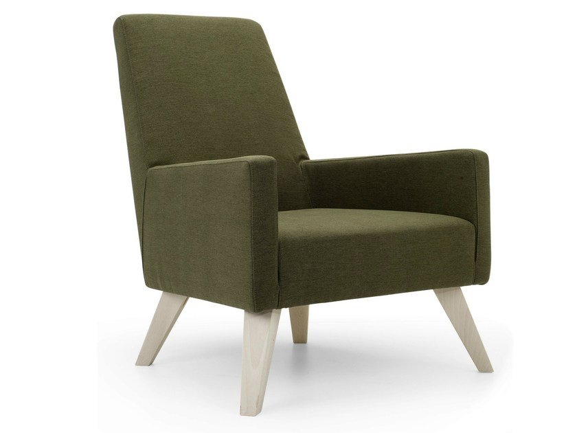 High-back armchair with armrests BOSTON HIGH | Armchair - Domingo Salotti