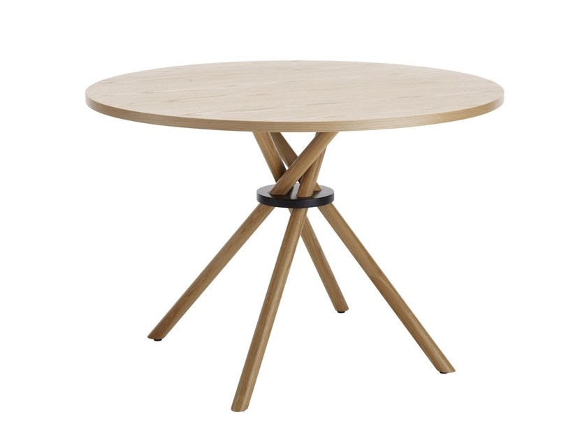 Wood veneer table BOUQUET | Round table by Karl Andersson