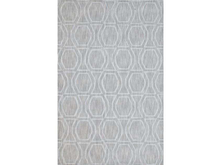 Wool rug BOW TILE GLACIER GRAY - Jaipur Rugs