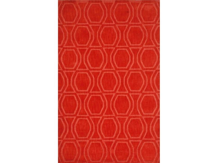 Wool rug BOW TILE FIERY RED - Jaipur Rugs
