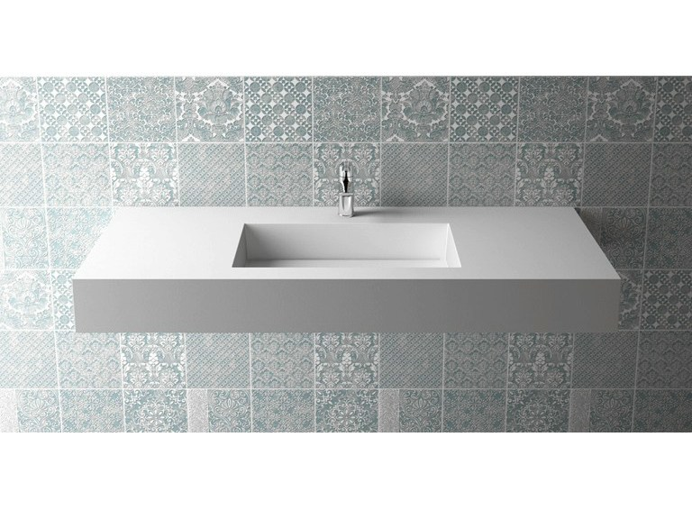 Rectangular single washbasin BOX 150 B454 - Flora Style