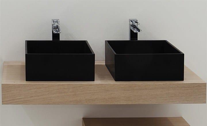 Countertop rectangular washbasin BOX 33 | Countertop washbasin by GSG Ceramic Design