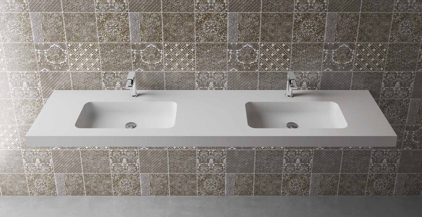 Washbasin BOX 75 MK 58 DOPPIO - Flora Style
