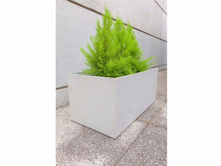 Fiber-reinforced concrete Flower pot BOX (100) | Fiber-reinforced concrete Flower pot by SIT