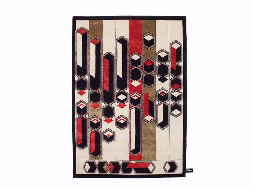 Rectangular wool rug with geometric shapes BOYAKETEKKA - cc-tapis ®