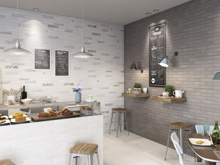 Porcelain stoneware wall/floor tiles with brick effect BRACCO by Ceramica Rondine