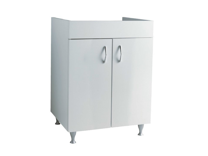 Wooden vanity unit with doors BRAIES | Vanity unit - Alice Ceramica