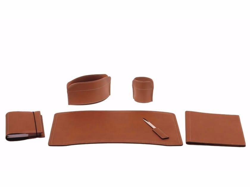 Bonded leather desk set BRANDO 6 PZ by LIMAC design FIRESTYLE