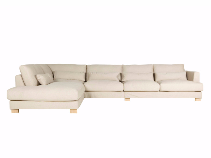 5 seater corner upholstered fabric sofa BRANDON | Corner sofa by SITS