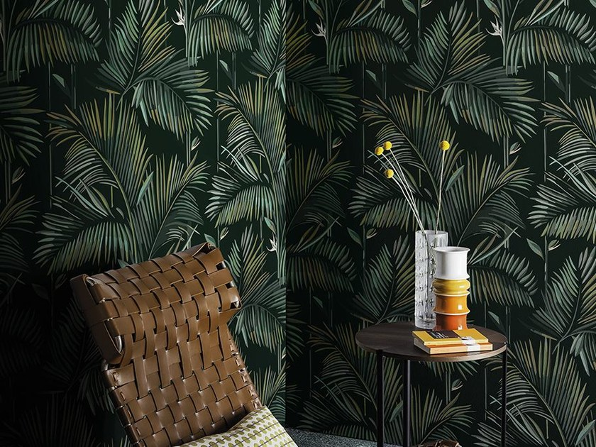 Wallpaper with floral pattern BRASILIA by Wall&decò
