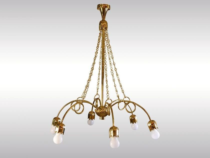 Classic style brass chandelier BRASS CHANDELIER - Woka Lamps Vienna