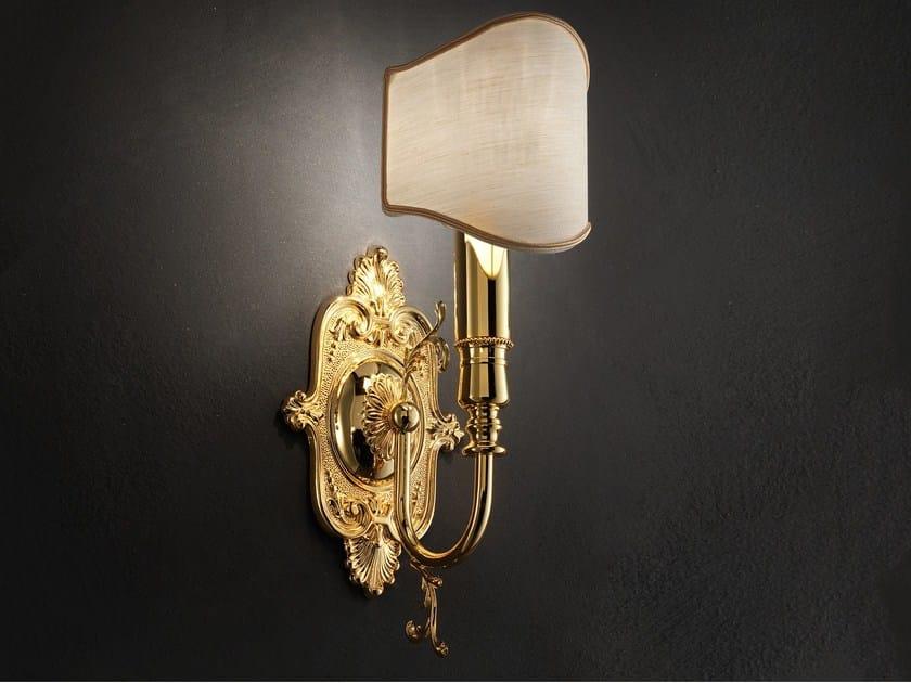 Lampada da parete a luce diretta incandescente in ottone BRASS & SPOTS VE 1075 by Masiero