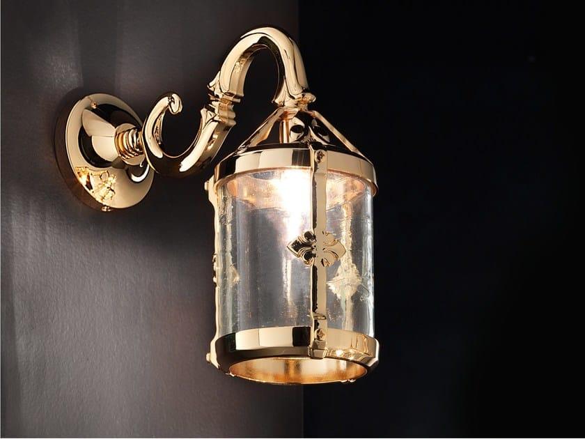 Lampada da parete a luce diretta incandescente in ottone BRASS & SPOTS VE 1061 - Masiero