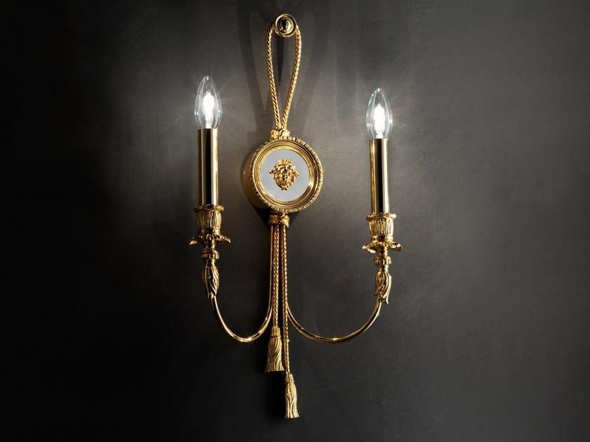 Direct light incandescent brass wall lamp BRASS & SPOTS VE 1071 by Masiero