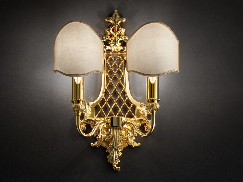 Lampada da parete a luce diretta incandescente in ottone BRASS & SPOTS VE 1063 by Masiero