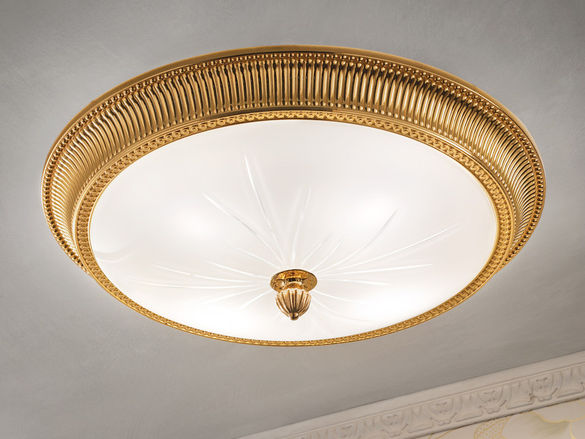 Direct light incandescent brass ceiling light BRASS & SPOTS VE 1080 - Masiero