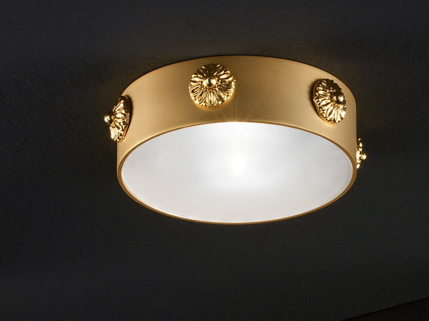 Semi-inset round ceiling brass spotlight BRASS & SPOTS VE 1103 - Masiero