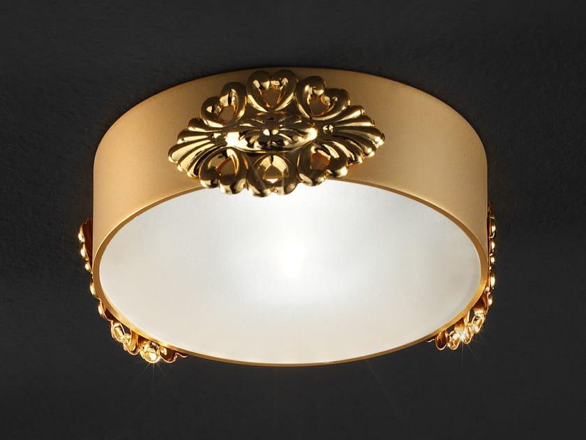 Semi-inset round ceiling brass spotlight BRASS & SPOTS VE 1104 - Masiero
