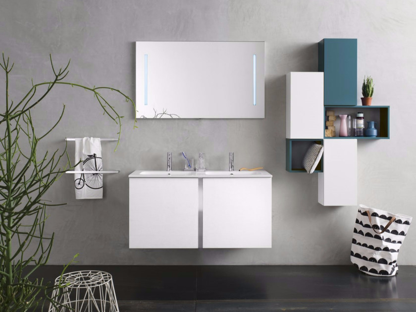 Laminate bathroom cabinet / vanity unit BRAVO by INDA®