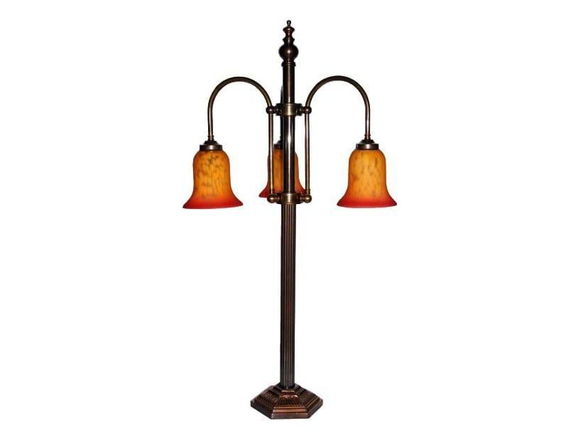 Handmade brass floor lamp BRAXTON BAR LAMP - Mullan Lighting