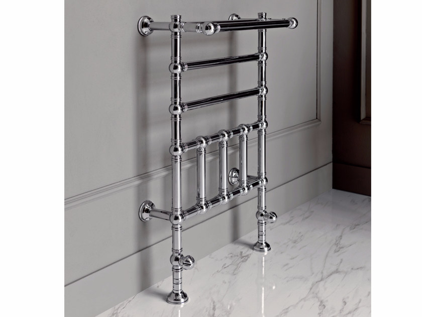 Chrome floor-standing towel warmer BRENT 2 - BATH&BATH