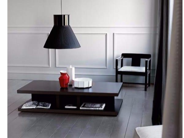 Low rectangular wooden coffee table BRERA | Rectangular coffee table - Casamilano