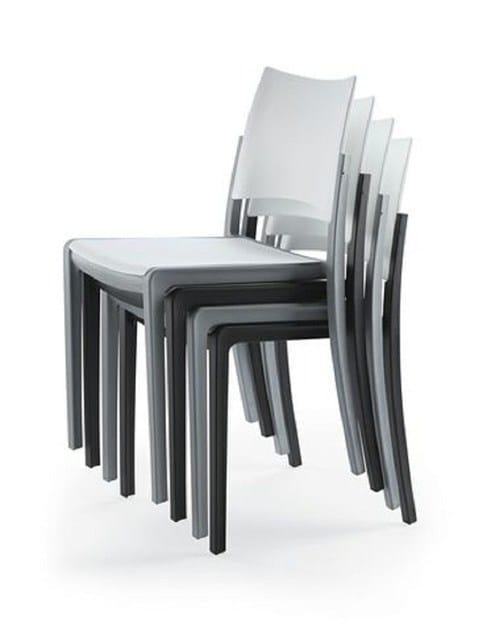 Sedia in plastica brezza sedia vela arredamenti for Vela arredamenti