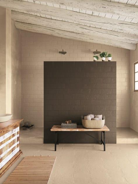 Rev tement de sol mur en gr s c rame effet brique pour - Revetements de sol interieur ...