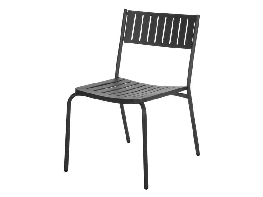 Sedia da giardino impilabile in acciaio BRIDGE | Sedia - EMU Group S.p.A.