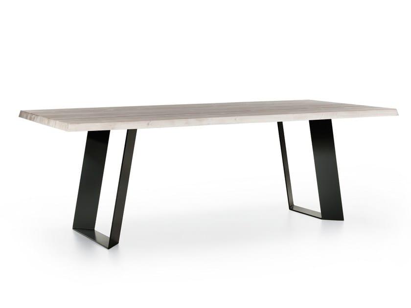Wooden and metal table BRIDGE by Natisa