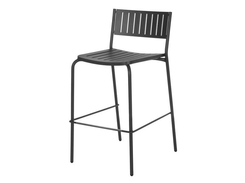 Stackable steel garden stool BRIDGE | Stool by emu
